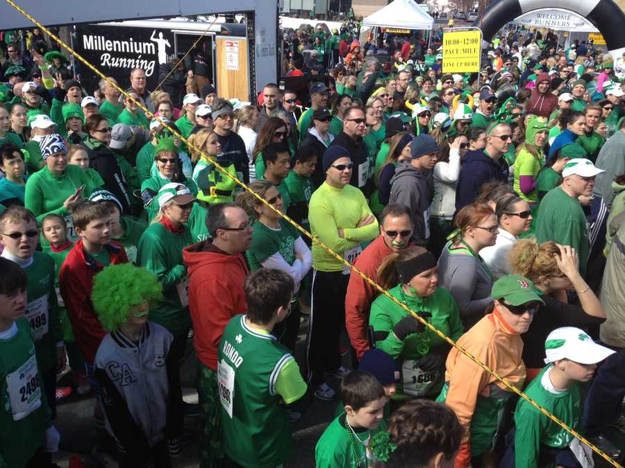 About 50,000 people gathered in Manchester on Sunday for the annual St. Patrick's Parade.