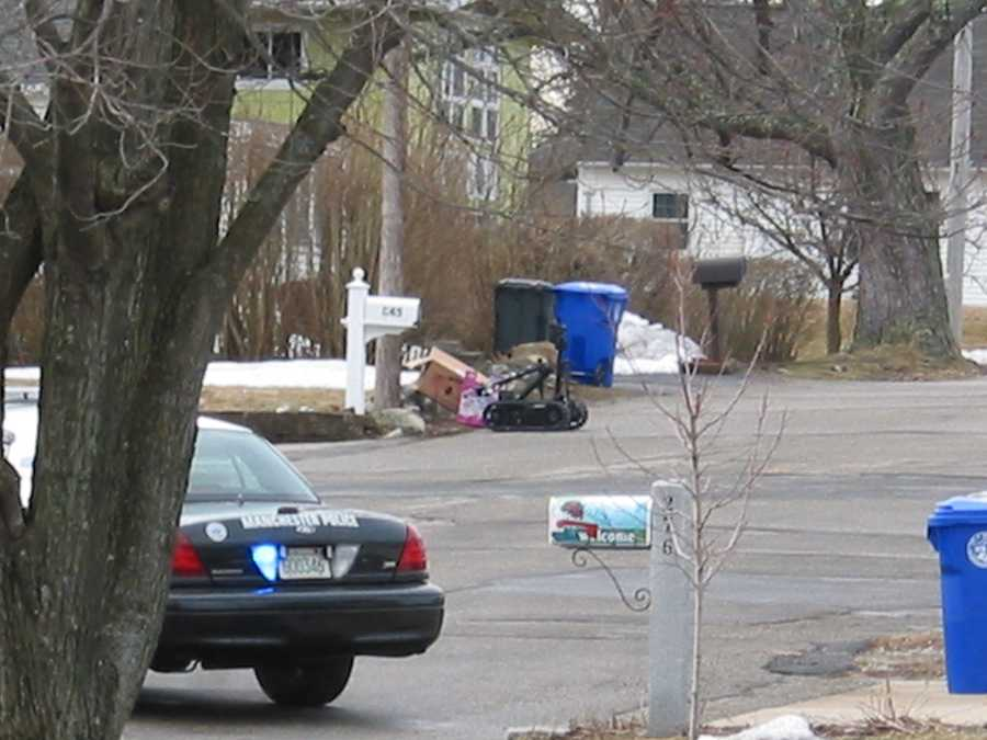 Officers determined the object to be a possible pipe bomb, so the immediate area was evacuated and the New Hampshire State Police explosives unit was called in to assist.