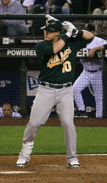 Oakland Athletics first baseman Daric Barton was born Aug. 16, 1985, in Springfield, V.T. He made his major league debut on Sept. 10, 2007.