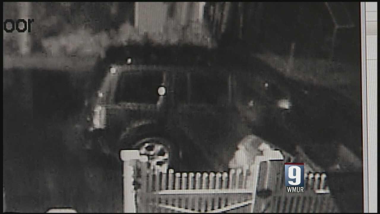 Surveillance video shows car break-in