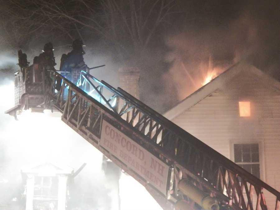 At the height of the fire there were about 45 firefighters on the scene, including those from neighboring towns.