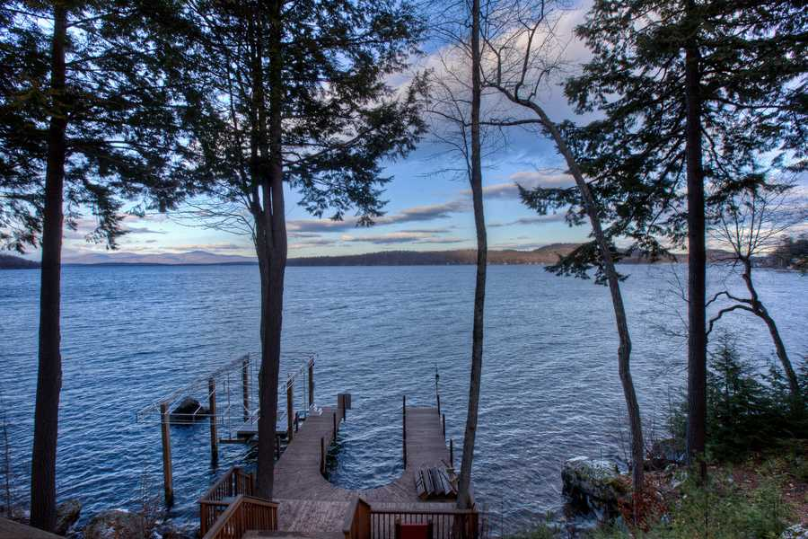 It comes with 440 feet of shoreline on Lake Winnipesaukee.