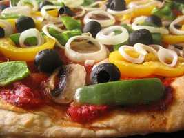 """What is Jason's go-to pizza topping? """"Any kind of meat…or pepper and onion,"""" said Jason."""