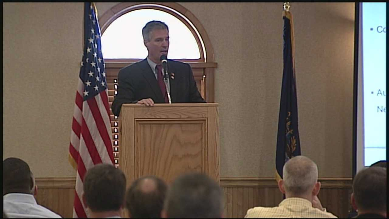 Former Sen. Scott Brown made an appearance in Manchester Saturday at the New Hampshire National Guard Officer and Enlisted Association.