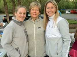 Erika Brannock, left, her mother Carol Phillips Downing and her sister Nicole Gross. Erika and Nicole were cheering on their mother Carol at the Boston Marathon when one of two bombs exploded nearby injuring Nicole and Erika.