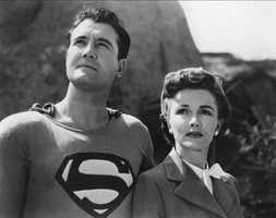"""Phyllis Coates (right) took over the role of Lois Lane for """"Superman and the Mole Men"""" as well as for the first season of the 1950s TV show """"Adventures of Superman."""""""
