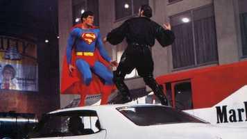 """Reeve as Superman in 1980's """"Superman II"""""""