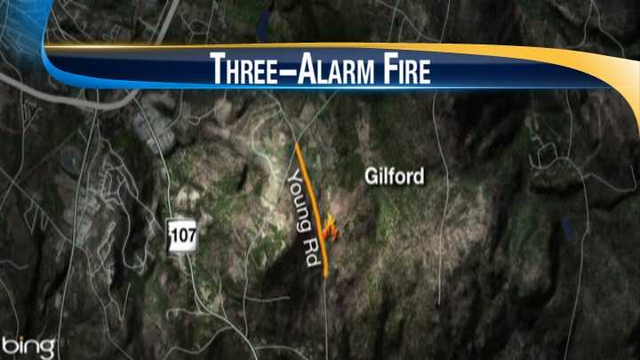 Fire burned an apartment building on property that crosses the Belmont/Gilford town line
