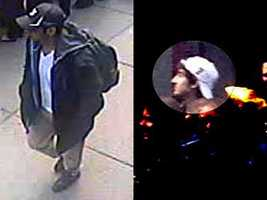Investigators have released images they say show two people of interest in the bombings at the Boston Marathon.Both men are considered armed and extremely dangerous. If you spot them, you are urged to call police immediately.