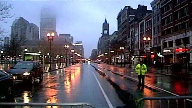 Boylston Street begins to reopen
