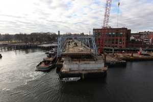 """By popular vote, the community selected the name of the bridge color - """"Piscataqua Mist""""."""