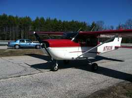 A small plane had to make an emergency landing on the Maine Turnpike after running out of fuel Friday morning.