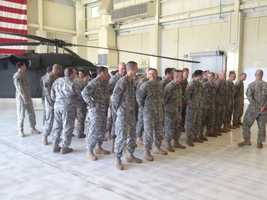 A deployment ceremony was held Monday for New Hampshire medevac troops leaving for Afghanistan.