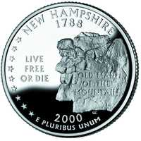 The Old Man was also featured on the New Hampshire State quarter in 2000, three years before its collapse.
