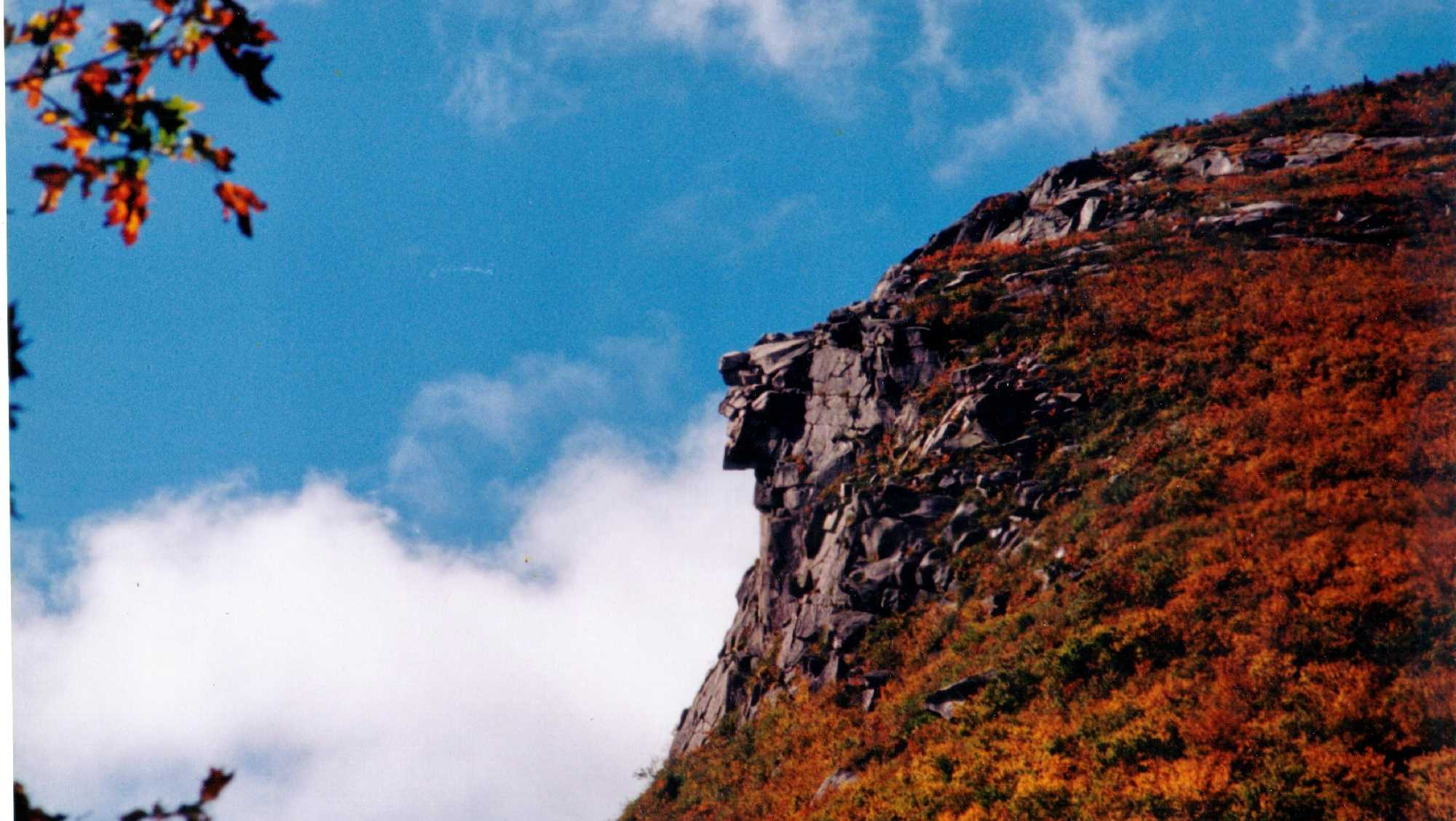 """In 1832, Nathaniel Hawthorne visited the formation and dubbed it, """"The Great Stone Face."""""""