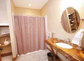 This property also includes six bathrooms, four of them are full.
