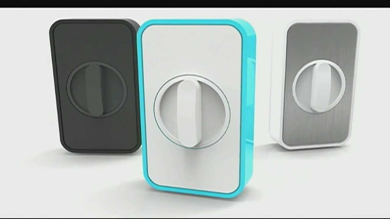 This gadget allows you to lock or unlock your door from any cell or smartphone.