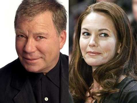 9) William and Diane(Pictured: Actor William Shatner and actress Diane Lane)