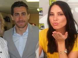 3) Jacob and Olivia(Pictured: Actor Jake Gyllenhaal, and actress Olivia Munn)
