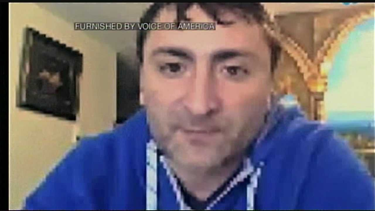 A Manchester man says he is being questioned by the FBI in connection with the Boston Marathon bombing.