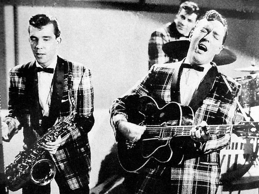 "Andy's most memorable assignment was when he got to interview the bassist for Bill Haley and His Comets. ""The first thing he said to me was, 'Well, when we invented rock and roll…' It really blew my mind. I couldn't remember a thing after that,"" Andy said."