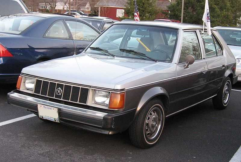 Andy's first car was a Plymouth Horizon.