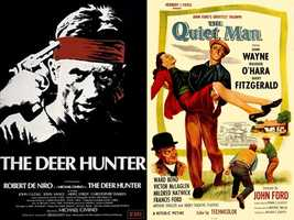 Andy says his favorite movies are 'The Deer Hunter' and 'The Quiet Man.'