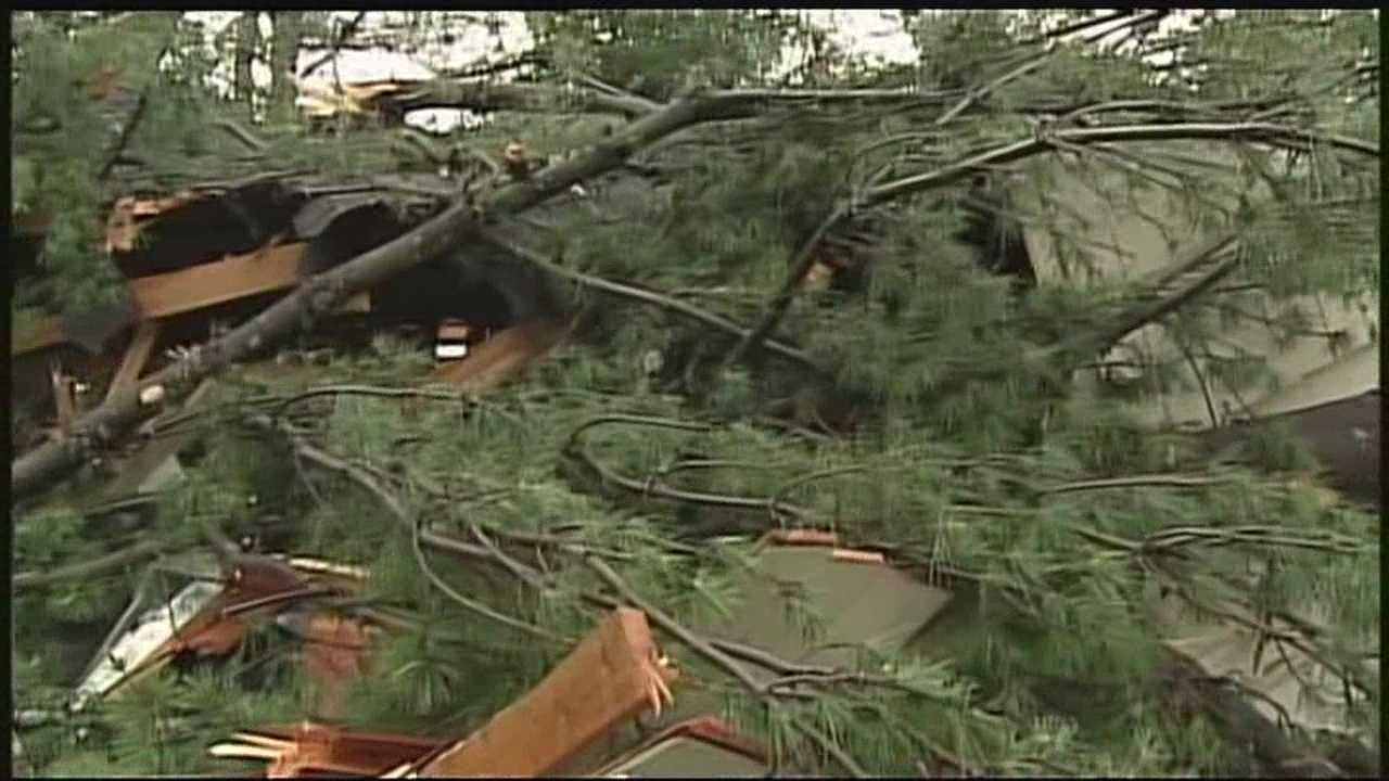Weekend storms caused damage in several New Hampshire communities, including Warren and Pelham.