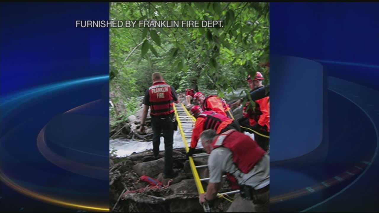 Firefighters pull off tricky river rescue