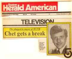 """An announcement that Chet was joining """"Chronicle"""" in 1981."""