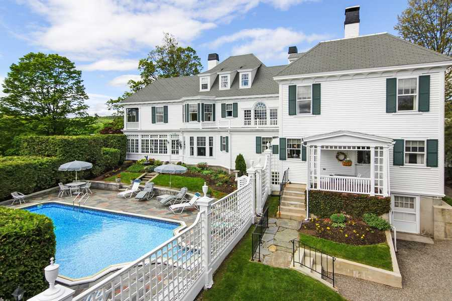 It also includes a sun room overlooking the in-ground pool, a patio and a three-tiered rear lawn. The Realtor selling the property says that could make it a viable destination property for a school, weddings or a bed-and-breakfast.