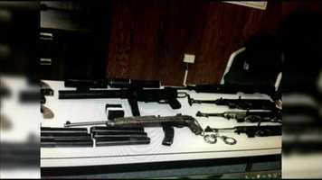 Foley slowly and methodically identified dozens of guns through photographs.