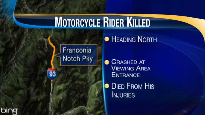 map-Franconia motorcycle crash
