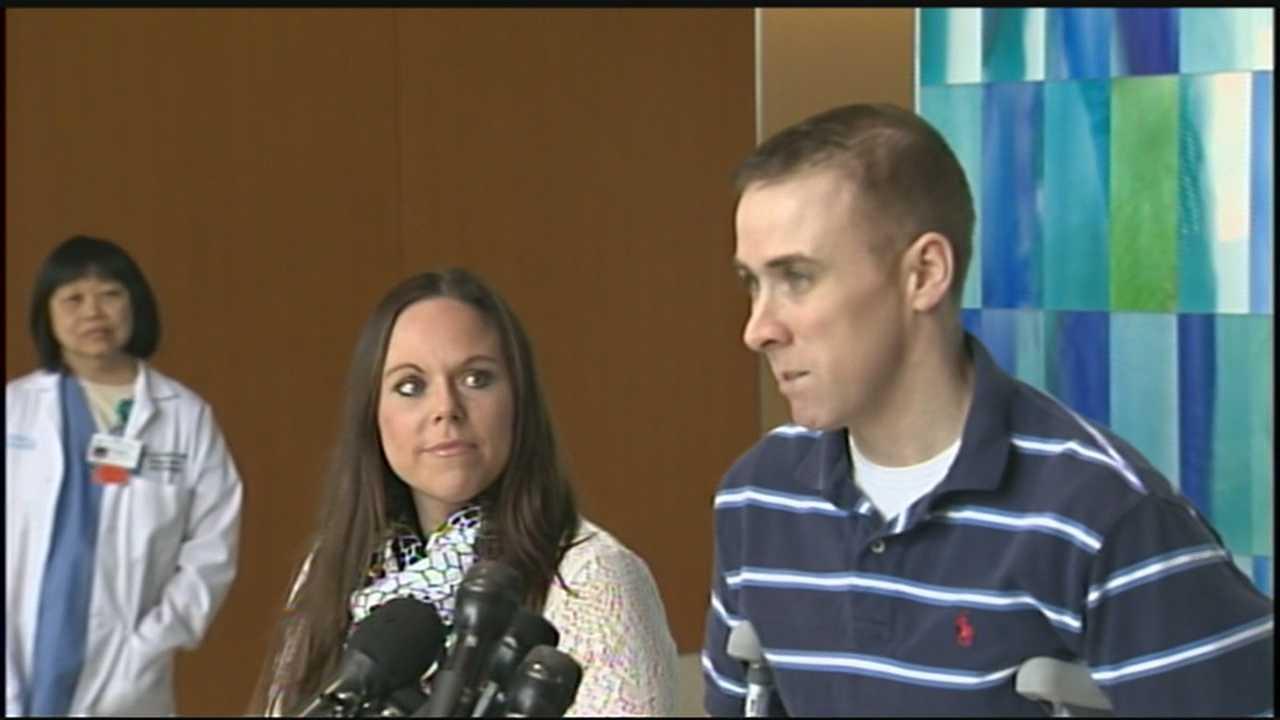 Wounded MBTA officer returns home