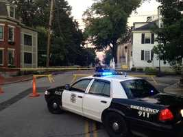 Wentworth Street in Portsmouth was shut down when several trees fell.