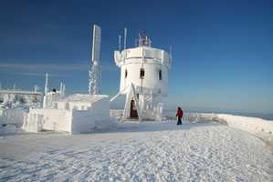 The temperature on the summit falls below zero more than 65 days a year.
