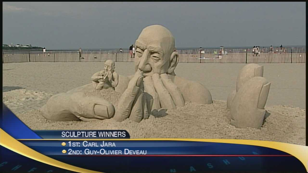 Beautiful sand sculptures took shape in Hampton this weekend!