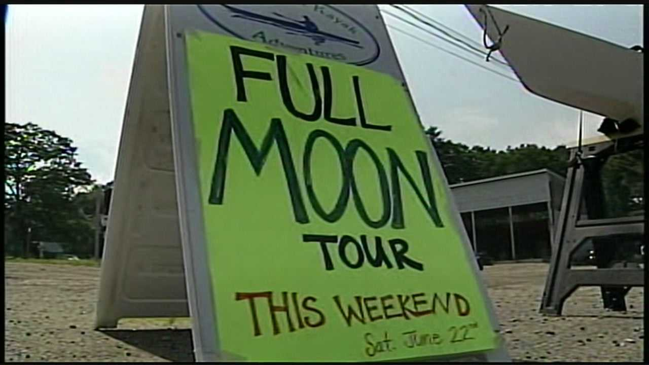 A local company offers kayak tours to see the moon-- perfect for this weekend's super moon!