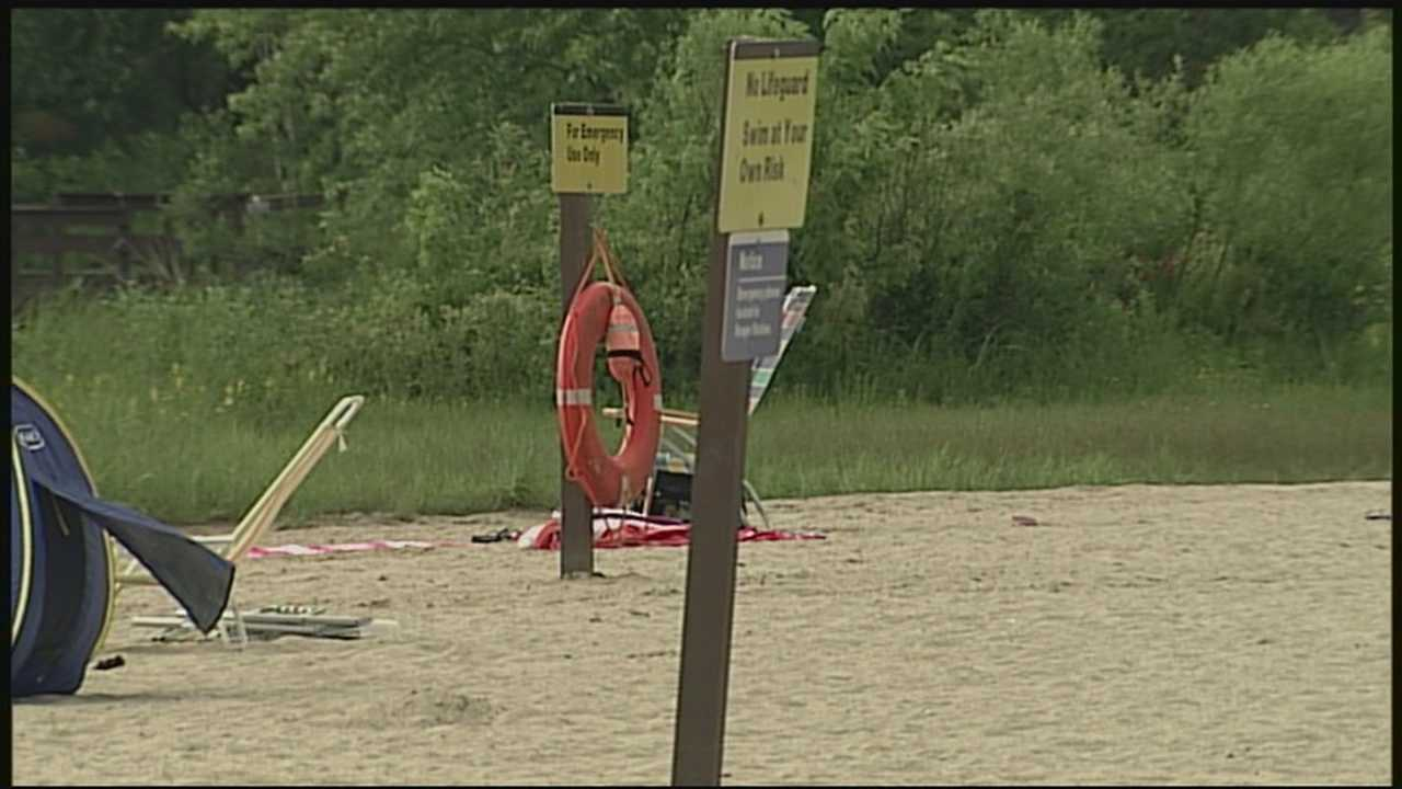 A man was pulled from the water in Elm Brook Park late Tuesday afternoon.