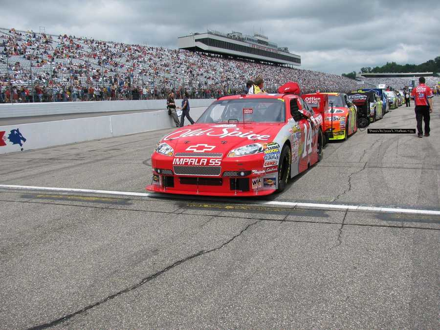 The speedway was the first for NASCAR to start the field in two groups under the warm-up laps to help set pit speed.