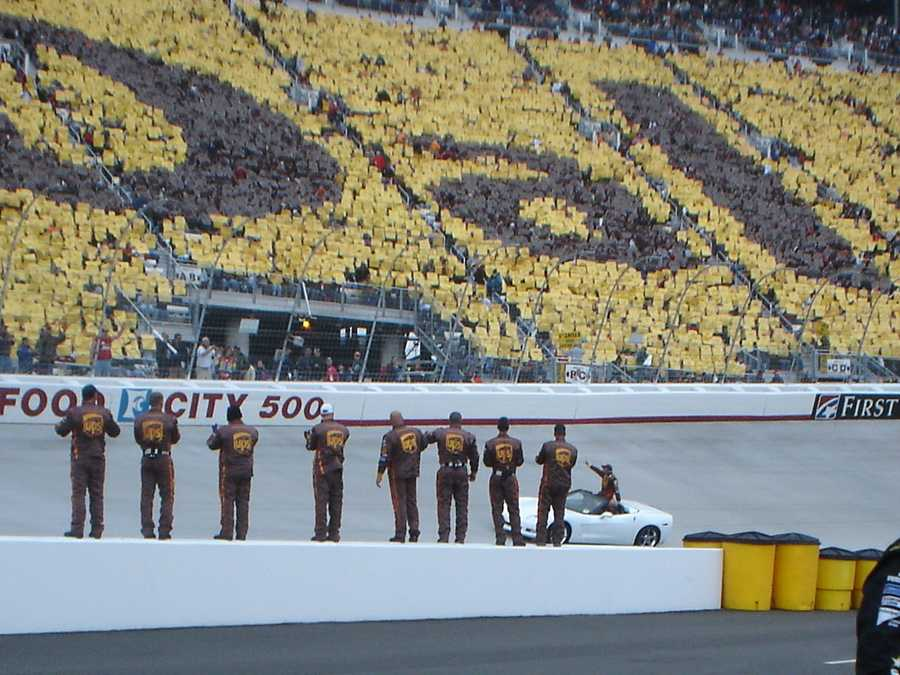 During the Sept. 2003 Sylvania 300, driver Dale Jarrett wrecked his car, which raised a caution flag. The policy called for all the drivers to race to the finish line, allowing drivers behind a lap to catch up to the rest. This caused near-collisions with Jarrett as his car stalled on the front stretch. This was enough to make NASCAR change their policy.