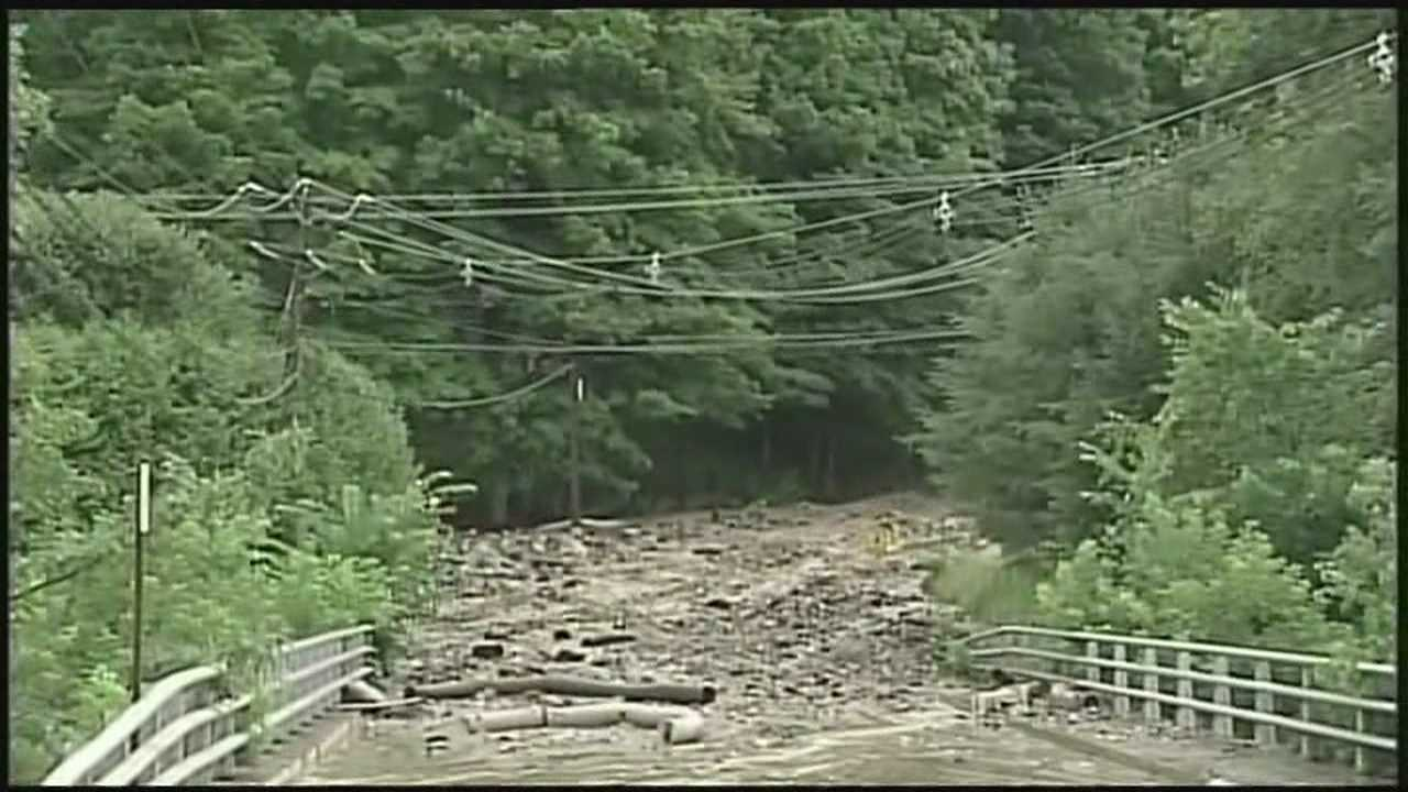Road damaged, evacuations ordered after flash flooding in Lebanon