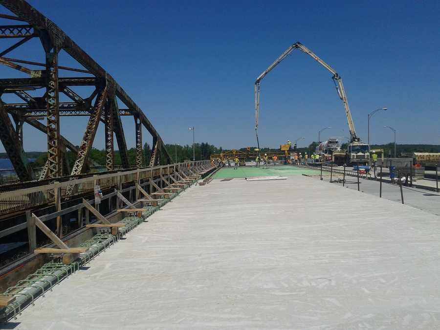 Little Bay Bridge-The new bridge is being built between the existing Little Bay Bridge and the existing General Sullivan Bridge.