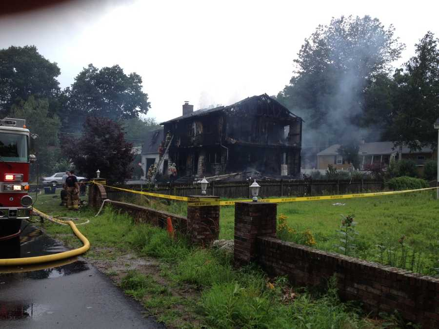 A fire damaged a home in Nashua on Wednesday.