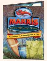 Tie-18. Makris Lobster & Steak House in Concord.