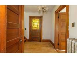 It has beautiful hard-wood floors through most of the home.