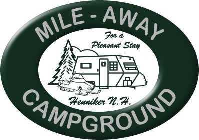 Tie-19) Mile-Away Campground in Henniker.
