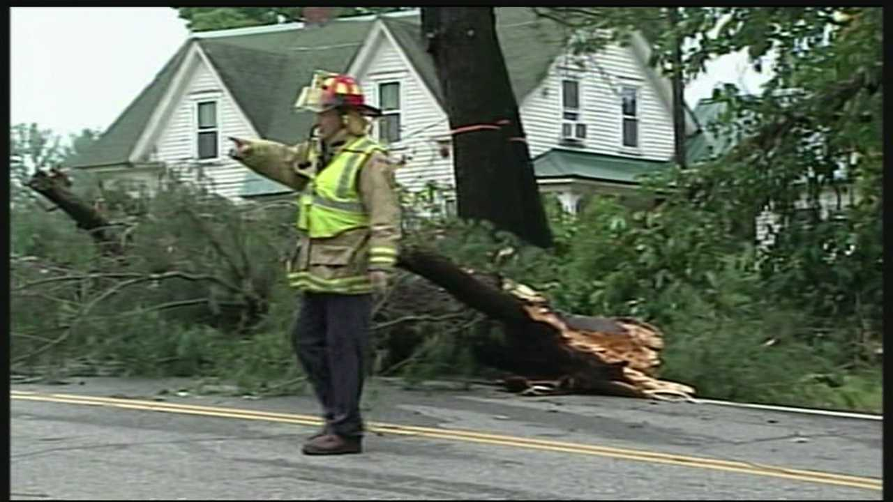 A strong storm moves through New Hampshire and leaves several thousand residents without power.