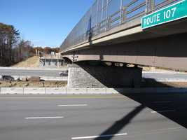 Lane closures on NH 107 and I-95 will be required to complete this work.