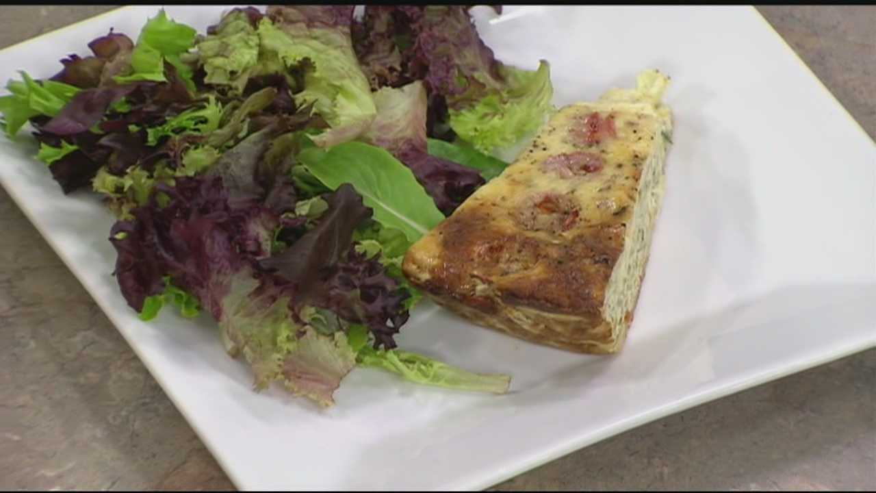 Erin Fehlau learns to make a zucchini quiche with local treats